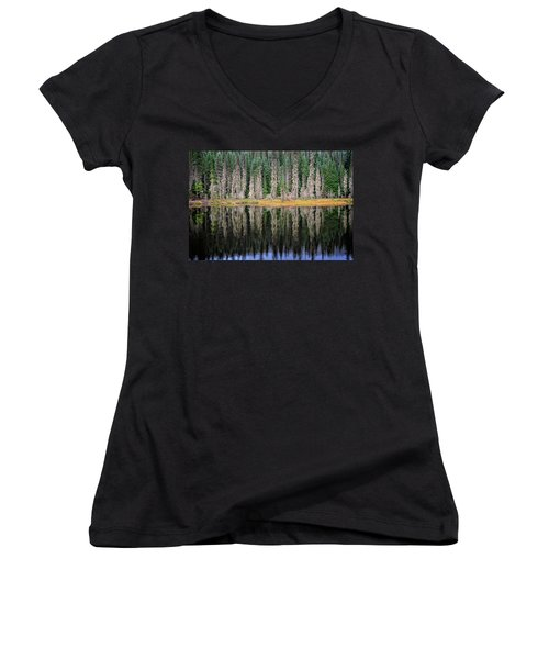 Beauty In Idaho Bog Women's V-Neck