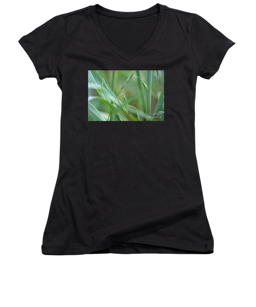 Beauty In Simplicity Women's V-Neck T-Shirt (Junior Cut) by Sheila Ping