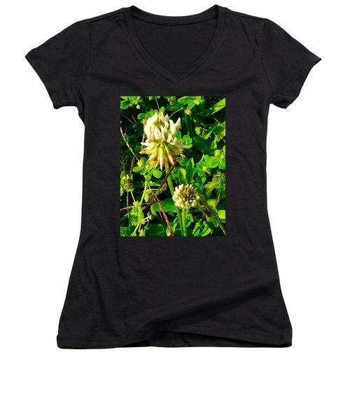 Beauty In Weeds Women's V-Neck T-Shirt