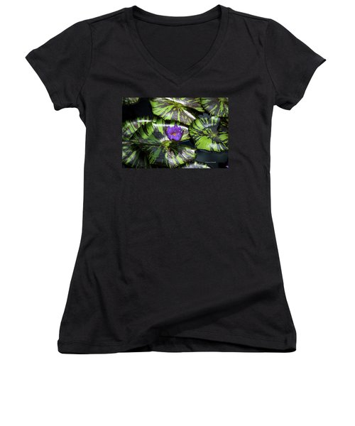 Beauty Rises To The Top Women's V-Neck (Athletic Fit)