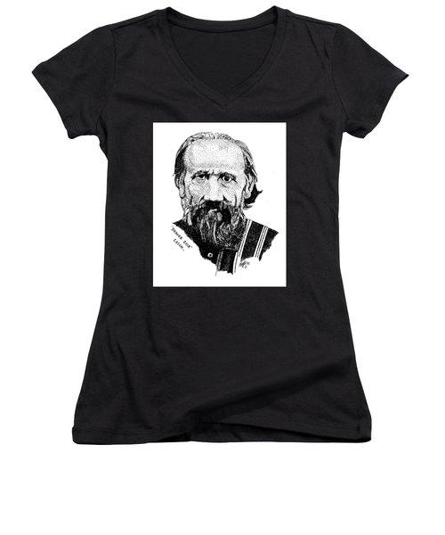 Beaver Dick Leigh Women's V-Neck T-Shirt