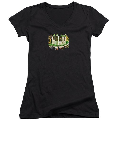 Women's V-Neck T-Shirt (Junior Cut) featuring the photograph Beaver The Old Fishing Boat by Thom Zehrfeld