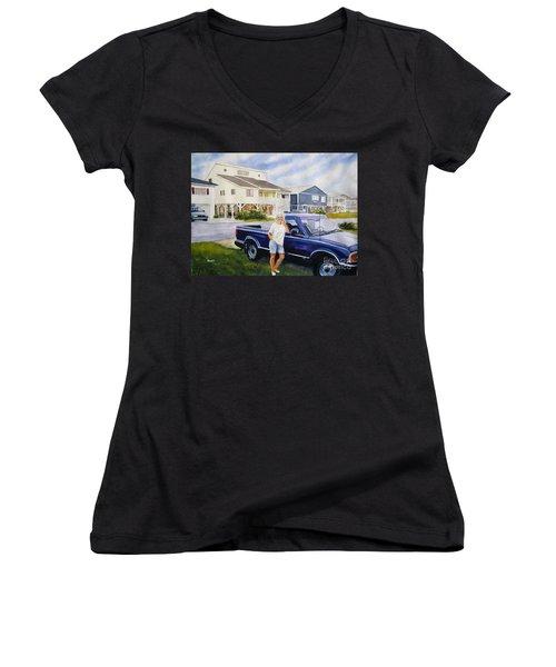 Becky Women's V-Neck T-Shirt