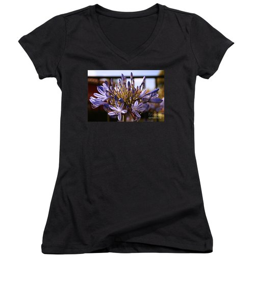 Becoming Beautiful Women's V-Neck T-Shirt (Junior Cut) by Linda Shafer