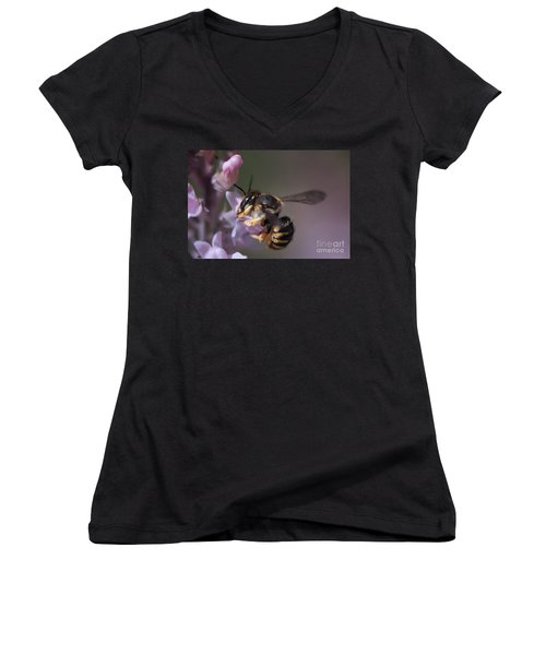 Bee Sipping Nectar Women's V-Neck T-Shirt