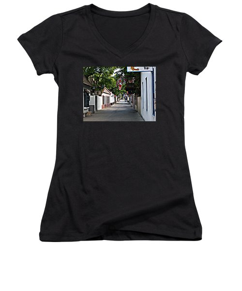 Before The Tourists 2 Women's V-Neck T-Shirt