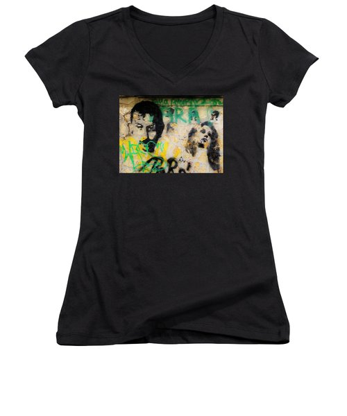 Beirut Wall Love Women's V-Neck (Athletic Fit)
