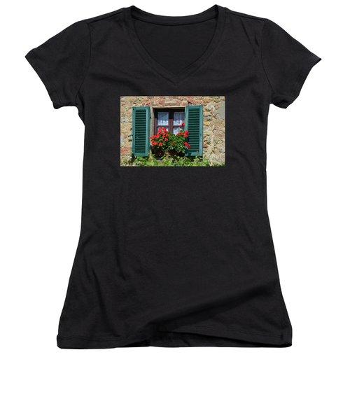 Bella Italian Window  Women's V-Neck (Athletic Fit)