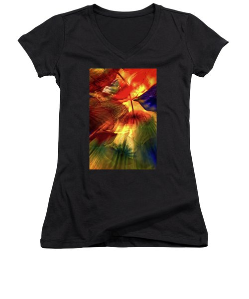 Bellagio Ceiling Sculpture Abstract Women's V-Neck
