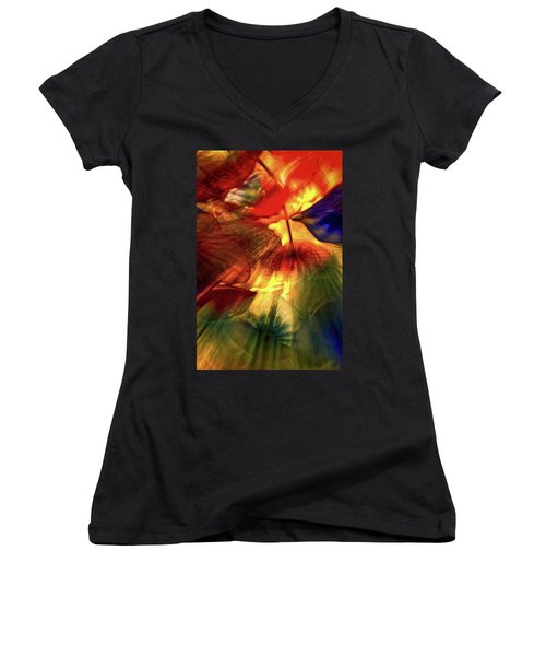Bellagio Ceiling Sculpture Abstract Women's V-Neck (Athletic Fit)