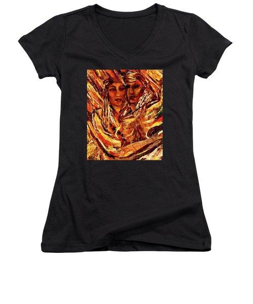Beloved Woman Women's V-Neck T-Shirt (Junior Cut) by Dawn Fisher