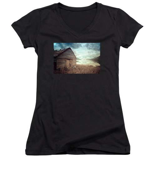 Beside The Lake Women's V-Neck