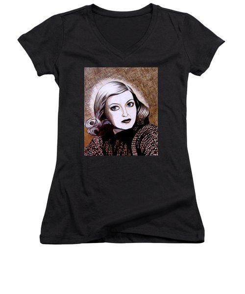 Bette Davis 1941 Women's V-Neck T-Shirt