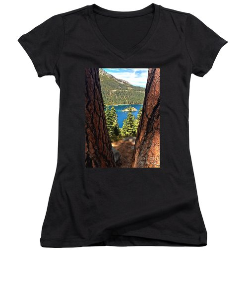Between The Pines Women's V-Neck (Athletic Fit)