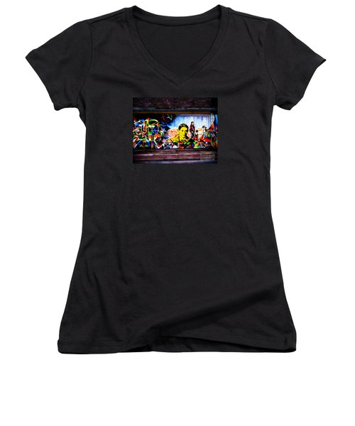 Beyond Graffiti Women's V-Neck T-Shirt