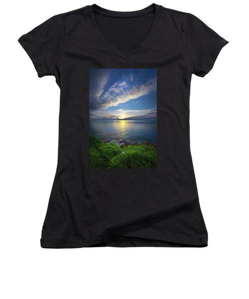 Biding Time Women's V-Neck T-Shirt