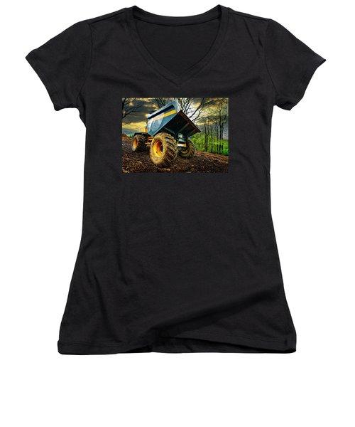 Big Bad Dumper Truck Women's V-Neck
