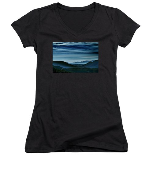 Big Bend At Dusk Women's V-Neck