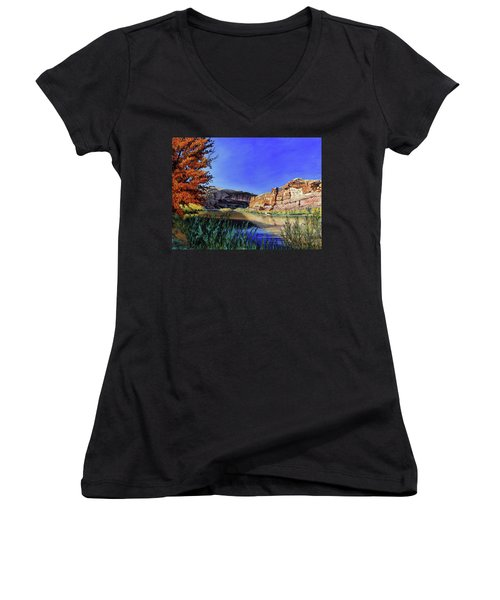 Big Bend On The Colorado Women's V-Neck (Athletic Fit)