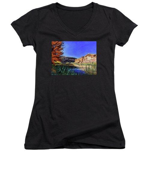 Big Bend On The Colorado Women's V-Neck T-Shirt
