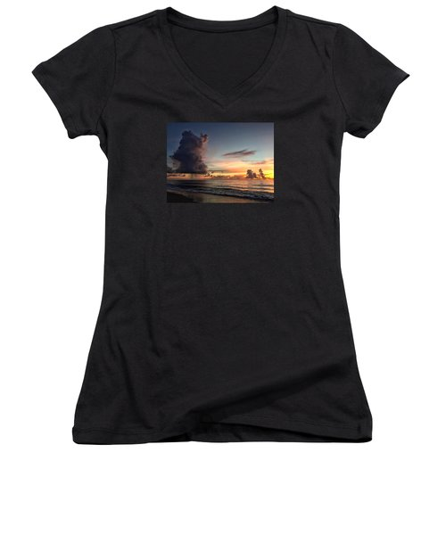 Big Cloud Women's V-Neck T-Shirt