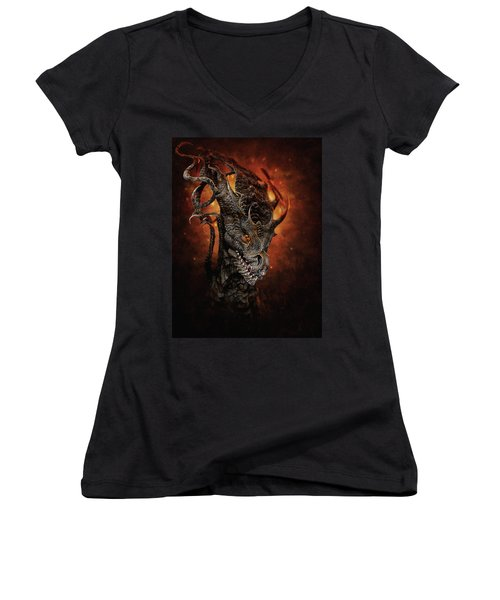 Big Dragon Women's V-Neck (Athletic Fit)