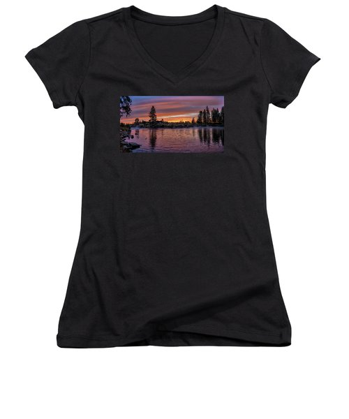 Big Eddy Sunrise Women's V-Neck