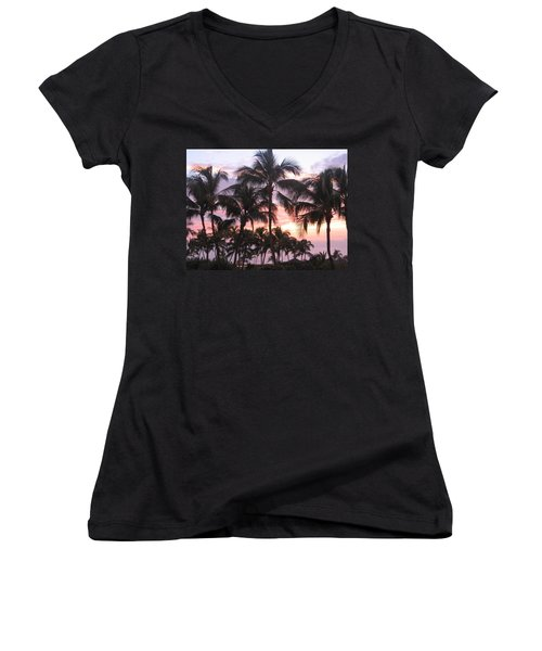 Big Island Sunset 3 Women's V-Neck