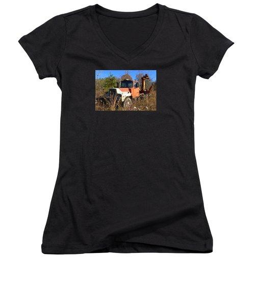 Big Mack Women's V-Neck T-Shirt (Junior Cut) by Carla Parris