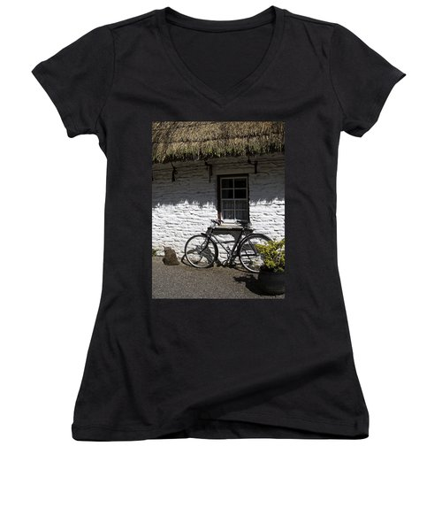 Bike At The Window County Clare Ireland Women's V-Neck
