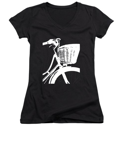 Bike Graphic Tee Women's V-Neck (Athletic Fit)