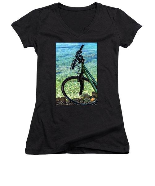 Biking The Rovinj Coastline - Rovinj, Istria, Croatia Women's V-Neck