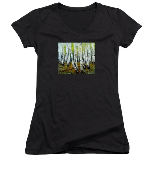 Birch Trail Women's V-Neck T-Shirt