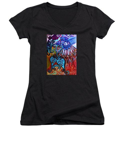 Bird Heart II Women's V-Neck T-Shirt
