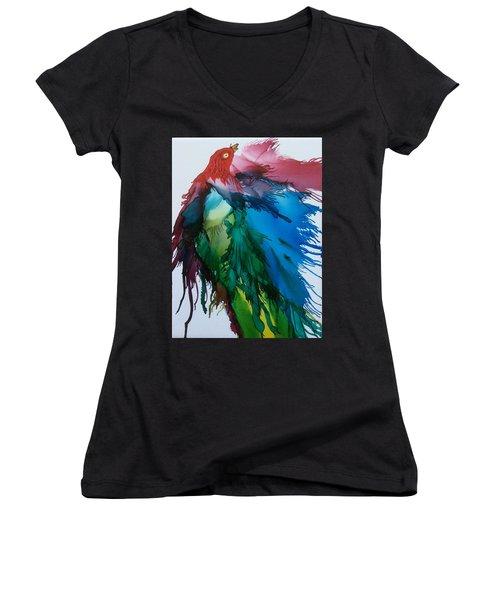 Bird Of  Many Colours Women's V-Neck T-Shirt