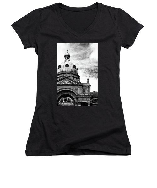 Birmingham Council House  Women's V-Neck T-Shirt (Junior Cut) by Stephen Melia