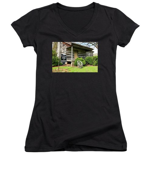 Birthplace Of Wc Handy Women's V-Neck (Athletic Fit)