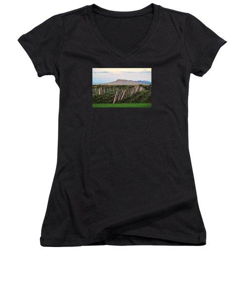 Black Birch Vineyard And Summit House View Women's V-Neck