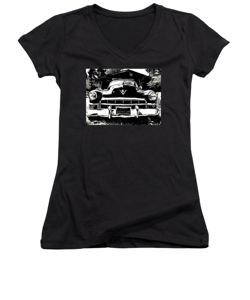 Black Cadillac Women's V-Neck