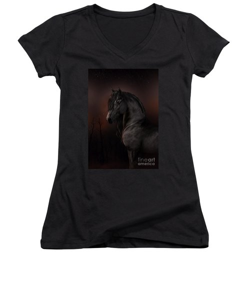 Black Dawn Women's V-Neck T-Shirt