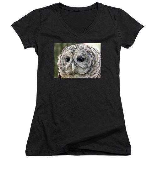 Black Eye Owl Women's V-Neck