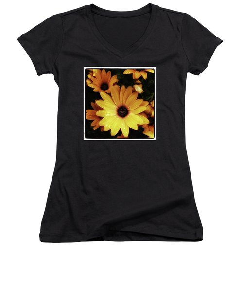 Women's V-Neck featuring the photograph Black Eyed Susans. Looks Like They're by Mr Photojimsf