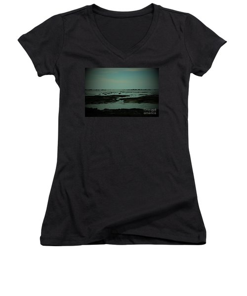 Black Rock Beach Women's V-Neck (Athletic Fit)