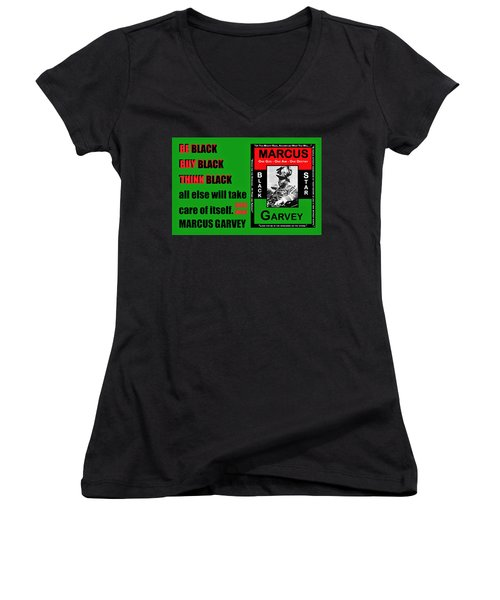 Black Star Garvey Women's V-Neck