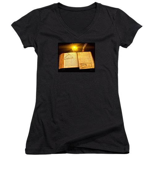 Black Sunday Women's V-Neck (Athletic Fit)