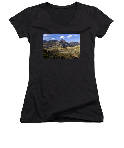 Blacktail Road Landscape 2 Women's V-Neck T-Shirt