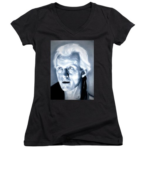 Blade Runner Roy Batty Women's V-Neck T-Shirt (Junior Cut) by Fred Larucci