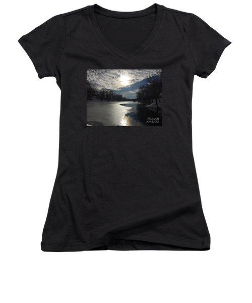Blanket Of Clouds Women's V-Neck T-Shirt (Junior Cut) by Jason Nicholas