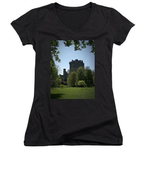 Blarney Castle Ireland Women's V-Neck