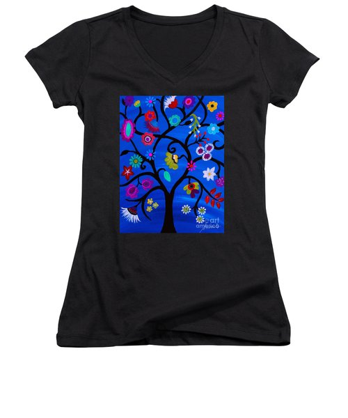 Blessed Tree Of Life Women's V-Neck